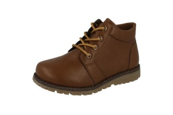 JCDees Boys Trendy Lace Up Ankle Boots (Brown)
