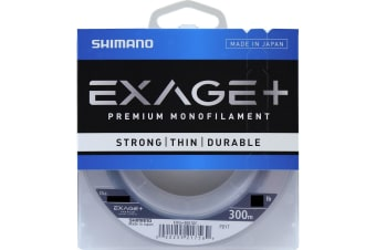 300m Spool of 40lb Shimano Exage+ Premium Monofilament Fishing Line - Clear Mono Line
