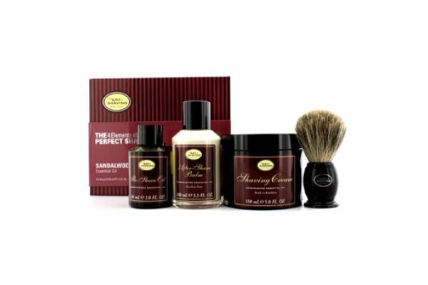 The Art Of Shaving The 4 Elements Of The Perfect Shave - Sandalwood (New Packaging) (Pre Shave Oil + Shave Crm + A/S Balm + Brush) (4pcs)