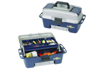 Flambeau 1704 Kwikdraw 1 Tray Fishing Tackle Box with 3 Tuff Tainer Tackle Trays
