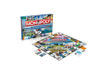 Monopoly Kids/Family Australian Geelong Edition Property Trading Board Game 8y+