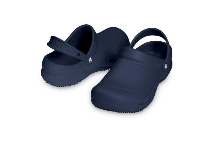 Crocs Unisex Bistro 10075 Work Clogs (Navy) (6 UK)
