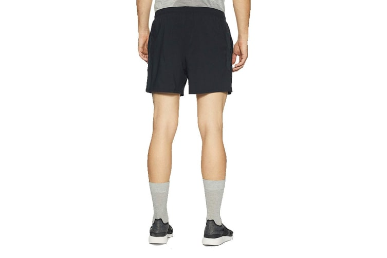 "Under Armour Men's Launch 5"" Shorts (Black/Reflective, Size Extra Large)"