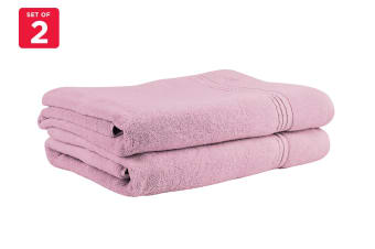 Onkaparinga Ethan 600GSM Bath Sheet Set of 2 (Rose)