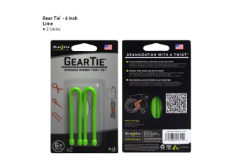 "Nite Ize Gear Tie 6"" 2 Pack - Lime"
