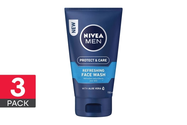 3-Pack Nivea Men Protect & Care Refreshing Face Wash - 150ml