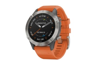 Garmin Fenix 6 Sapphire Pro (Titanium with Ember Orange)