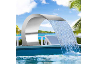 Waterfall Feature Swimming Pool Spillway Stainless Steel Cascading