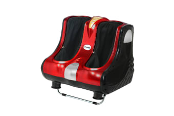 Livemor Foot Massager Shiatsu Ankle Calf Leg Massagers Circulation Booster Red