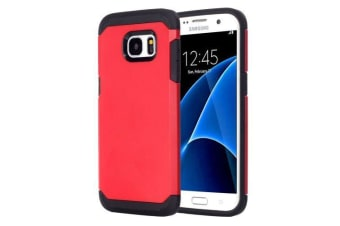 For Samsung Galaxy S7 Case Stylish Hybrid Armour Durable Protective Cover Red