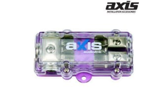 Axis Brand New 2-Way AGU Fuse Block 4GA In  2 x 8GA Out Water Resistant