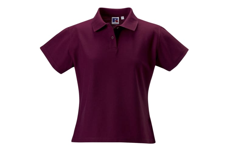 Russell Europe Womens/Ladies Ultimate Classic Cotton Short Sleeve Polo Shirt (Burgundy) (M)