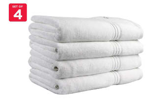 Onkaparinga Ethan 600GSM Bath Towel Set of 4 (White)