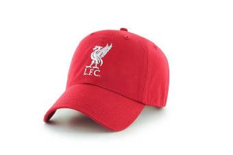 Liverpool FC Adults Official Football Crest Baseball Cap (Red) (One Size)