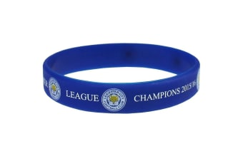 Leicester City FC Official Champions Silicone Wristband (Blue)