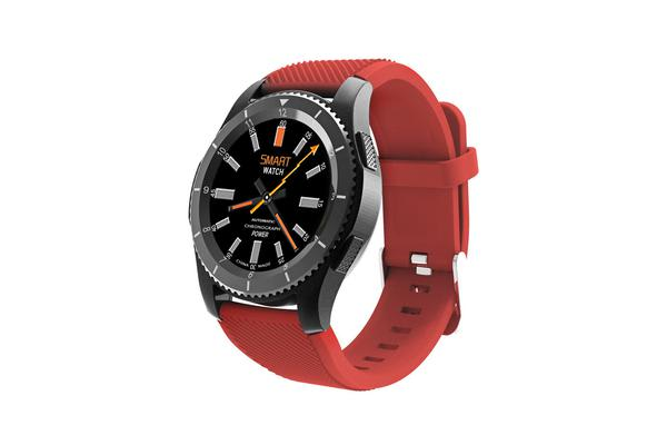 TODO Bluetooth V4.0 Smart Watch Touch Lcd Rechargeable Heart Rate Monitor Red