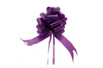 Apac 50mm Block Colour Decorative Pull Bow Ribbon (Purple)