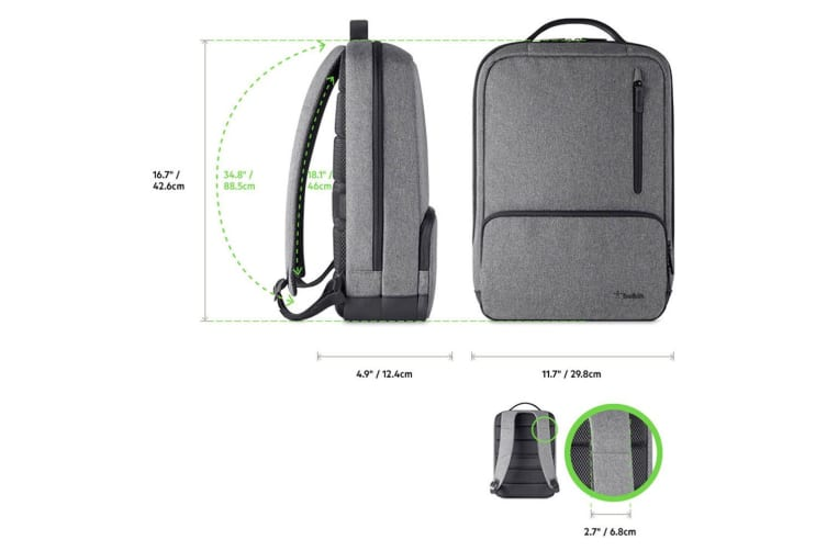 "Belkin Classic Pro Backpack for 15.6"" Laptop/Gadget/Tablet Grey Black Travel Bag"