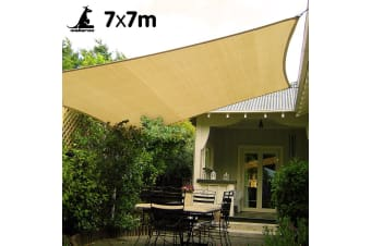 Wallaroo Rectangular Shade Sail 7m x 7m - Sand
