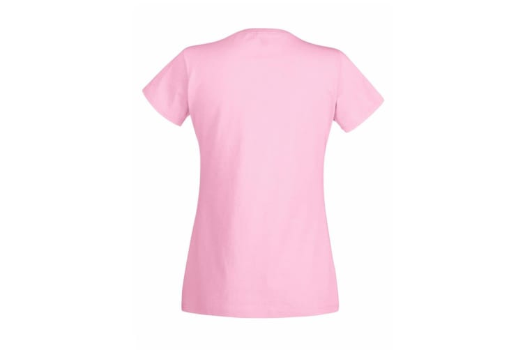 Womens/Ladies Value Fitted Short Sleeve Casual T-Shirt (Pastel Pink) (X Small)
