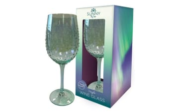 Sunny By Sue Lustre Decorated Wine Glass (Green) (One Size)