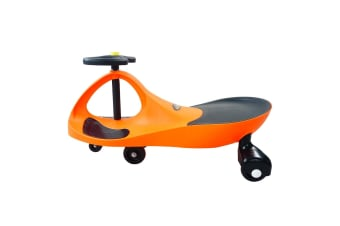 Kids Swing Car Slider Wiggle Scooter Swivel Ride on Toy w/Foot Mat-Orange