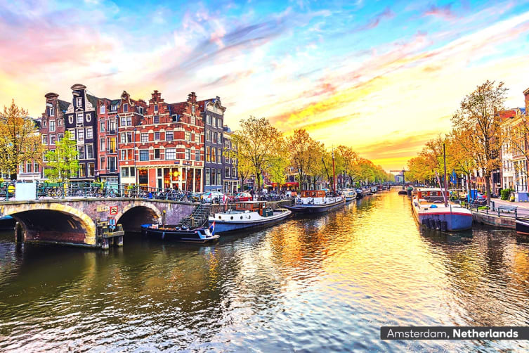​EUROPE: 31 Day Ultimate Europe Escape Including Flights for Two (Ocean View Cabin)