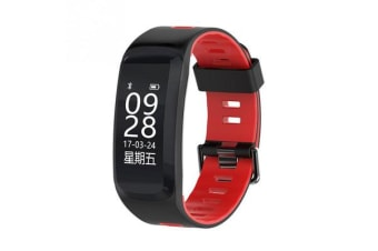 "Bluetooth V4.0 Smart Watch 0.96"" Oled Heart Rate Blood Oxygen Gps Ip68 Red"