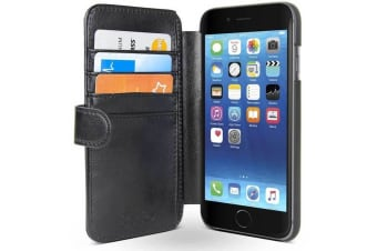 Gecko Deluxe Wallet Case for iPhone 6/6s Cash/Card Holder Cover Screen Protector