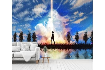 3D Sky Background 52 Anime Wall Murals Self-adhesive Vinyl, XXXXL 520cm x 290cm (WxH)(205''x114'')