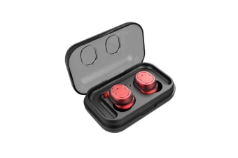 Sweatproof Earpiece Noise Cancelling Sports Earphones For Workout And Running Red