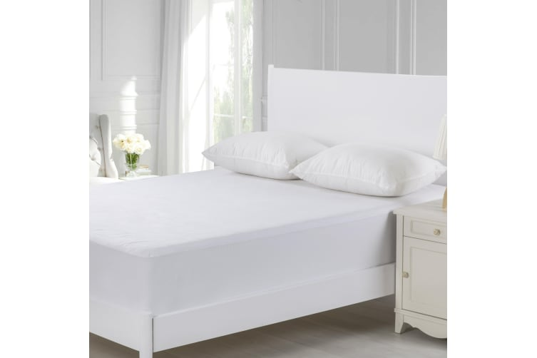 Cotton Terry Towelling Waterproof Mattress Protector King Single Bed