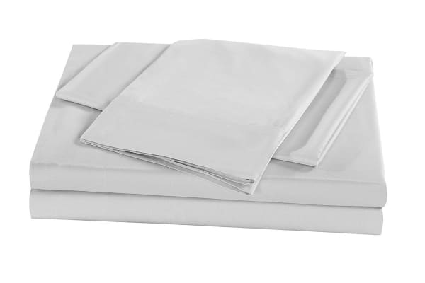 Royal Comfort 100% Natural Bamboo Bed Sheet Set (King, Silver)