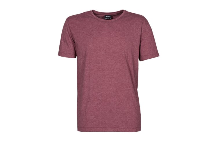 Tee Jays Mens Urban Short Sleeve Melange T-Shirt (Wine Melange) (M)