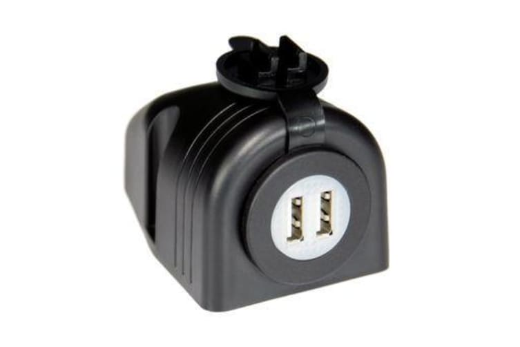 12/24V DC Input Surface Mount Dual Usb Socket dustproof water resistant rubber cover