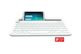 Logitech K480 mobile device keyboard White Bluetooth