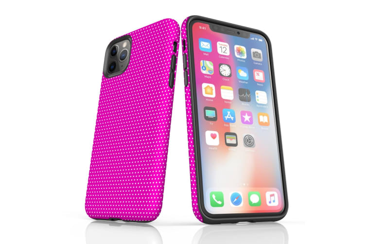 For iPhone 11 Pro Protective Case Unique Phone Cover  Pink Dots