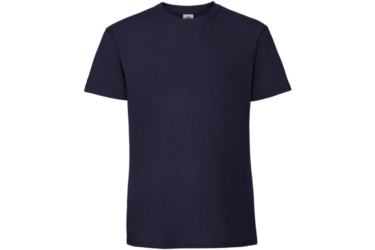 Fruit Of The Loom Mens Ringspun Premium Tshirt (Navy) (5XL UK)