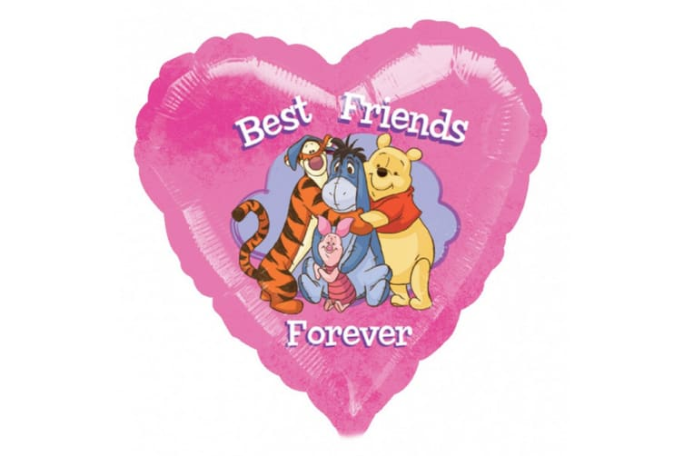 Anagram Winnie The Pooh Best Friends Forever Foil Balloon (Pink) (One Size)