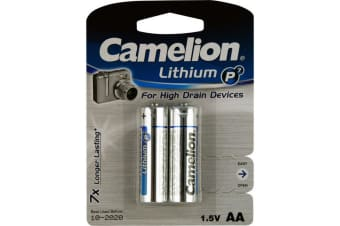 AA Lithium Battery - 2 Pack Camelion