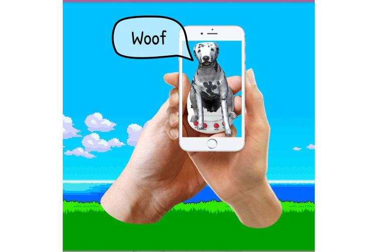 2x Giga Pets AR Keyring Puppy Virtual Friend/APP for Smartphones IOS Android