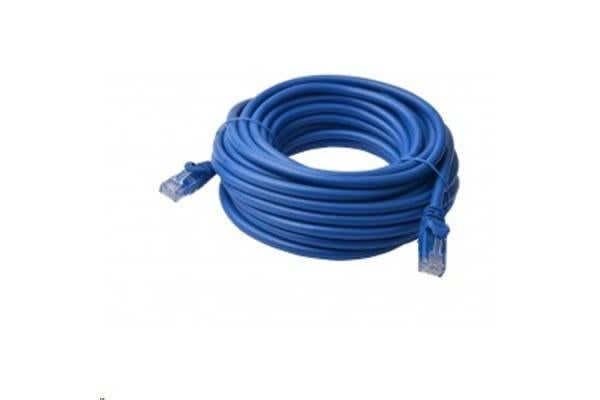 8WARE PL6A-50BLU Cat 6a UTP Ethernet Cable  Snagless  - 50m Blue