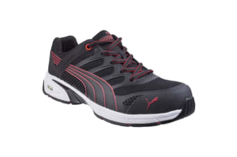 Puma Safety Mens Fuse Motion Trainers (Black/Red)