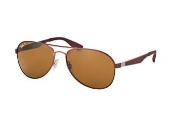 Ray Ban RB3549 01283 58 Matte Brown Mens Womens Sunglasses