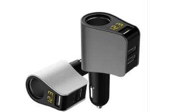 Generic Fast-Charging Modern Style Car Charger - Black