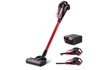 Devanti 120W Handheld Vacuum Cleaner Cordless Stick Bagless Spare Battery Red