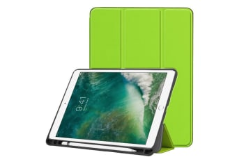 For iPad Air 3 (2019) Case Karst Texture PU Leather Folio Cover Pen Slot Green