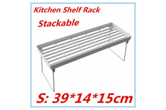 3 x Small Collapsible Shelf Rack Kitchen Pantry Plastic Food storage Organiser Bathroom Office FD
