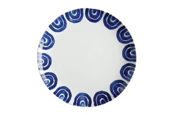 Maxwell & Williams 36.5cm Suomi Ceramic Round Serving Dining Plate Dish BLU WHT