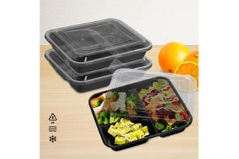 10pcs Microwave Safe Plastic Meal Prep Container Lunch Box